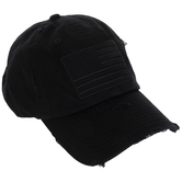 Black American Flag Patch Baseball Cap