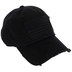 Black American Flag Patch Baseball Cap