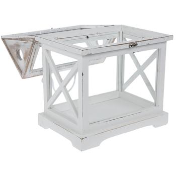 White Distressed Wood Terrarium