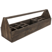 Rustic Divided Wood Caddy