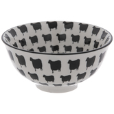 Black & White Sheep Print Bowl
