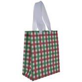 Red, Green & White Plaid Gift Bag - Large