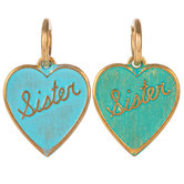 Sister Heart Charms