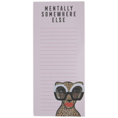 Glam Cheetah Magnetic Note Pad