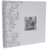 "White Satin Post Bound Scrapbook Album - 12"" x 12"""