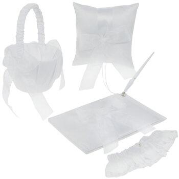 White Wedding Ensemble Accessories