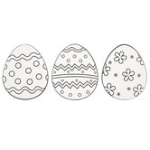 Patterned Easter Egg Paper Shapes