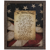 National Anthem Framed Wall Decor