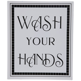 Wash Your Hands Metal Sign