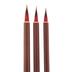 Goat & Sable Liner Paint Brushes - 3 Piece Set