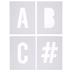 Alphabet Letter Doormat Stencils