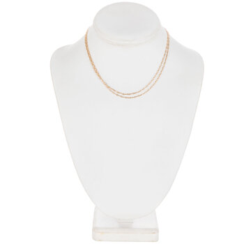 """Fine Oval Chain Necklace - 30"""""""
