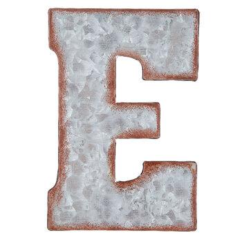 Galvanized Metal Letter Wall Decor - E