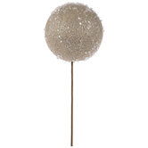 Champagne Glitter Sphere Pick