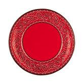 Red Bandana Paper Plates