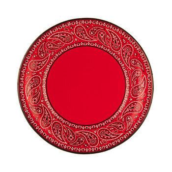 Red Bandana Paper Plates - Small