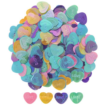 Assorted Love Heart Sequins