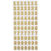 Foil Franklin Number Stickers