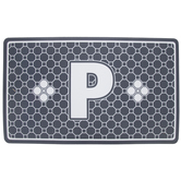 Gray Geometric Tiles Letter Doormat