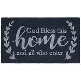 God Bless This Home Coir Doormat