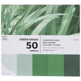 "Green Grass Cardstock Paper Pack - 8 1/2"" x 11"""