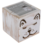 White Dog Wood Block Photo Holder