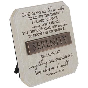 Serenity Prayer & Philippians 4:13 Decor