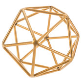 Gold Geometric Metal Shape