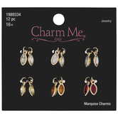 Warm Colored Rhinestone Marquise Charms