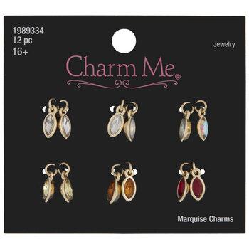 Warm Colored Rhinestone Marquise Charms