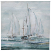 Painted Sailboats Canvas Wall Decor