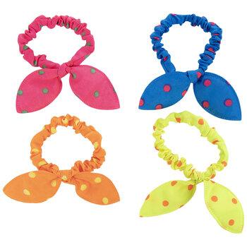 Polka Dot Bow Scrunchies