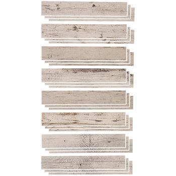 Whitewash Wood Panel Vinyl Wall Art