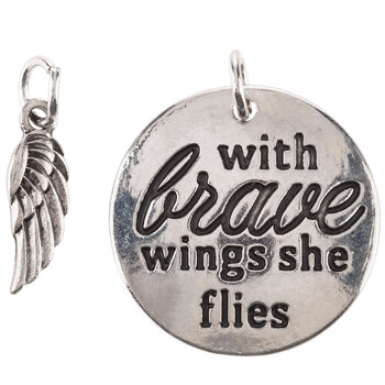 With Brave Wings Charms