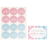 Gender Reveal Voting Cards & Stickers