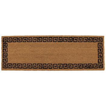 Brown & Black Greek Key Coir Rug