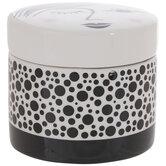White & Black Round Face Jewelry Box
