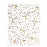 "Gold Floral Outlines Vellum Paper - 8 1/2"" x 11"""