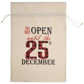 Do Not Open Drawstring Gift Bag