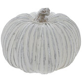 Metallic Striped Pumpkin