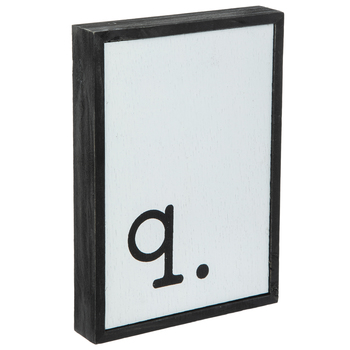 Lowercase Letter Wood Wall Decor - Q