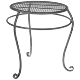 Antique Gray Metal Plant Stand