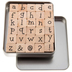 Lower Case Kids Play Alphabet Rubber Stamps