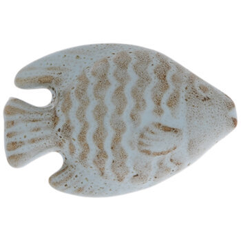 Light Blue & Brown Fish Knob