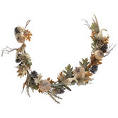 Gourds, Leaves & Pinecones Garland