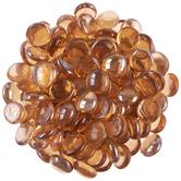 Peach Oval Glass Gem Filler
