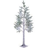 Snowy Pine Pre-Lit Christmas Tree - 5'