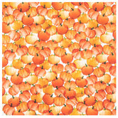 "Watercolor Pumpkins Scrapbook Paper - 12"" x 12"""
