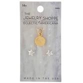 Moon Charm & Star Earrings