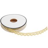 "Gold Crochet Trim - 3/8"""